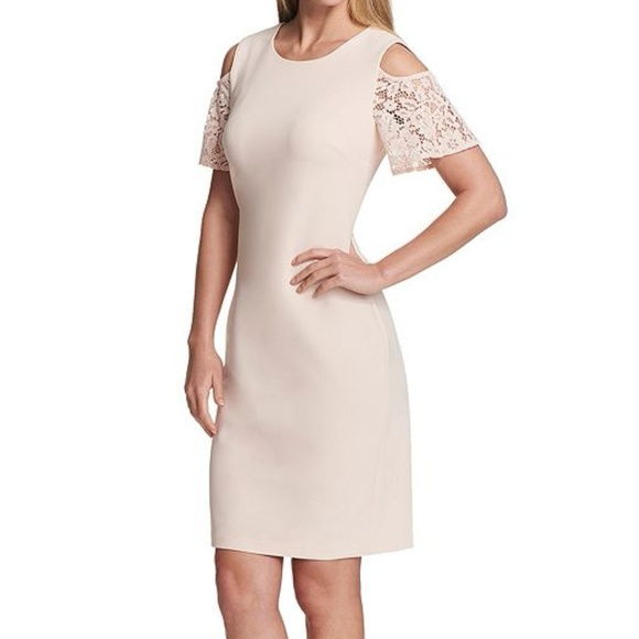 f4e4149aade Tommy Hilfiger Dresses | Scuba Crepe Coldshoulder Lace Dress | Poshmark